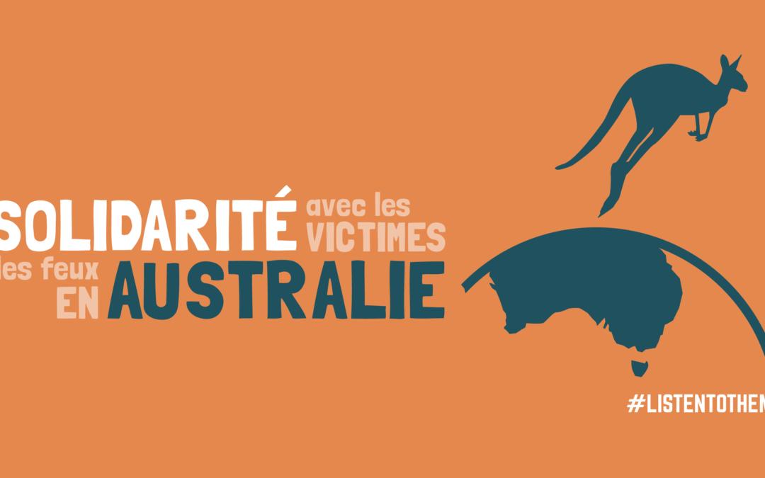 Communiqué de presse de CPLC, YFC et UPLC : Solidarité avec les victimes des feux en Australie