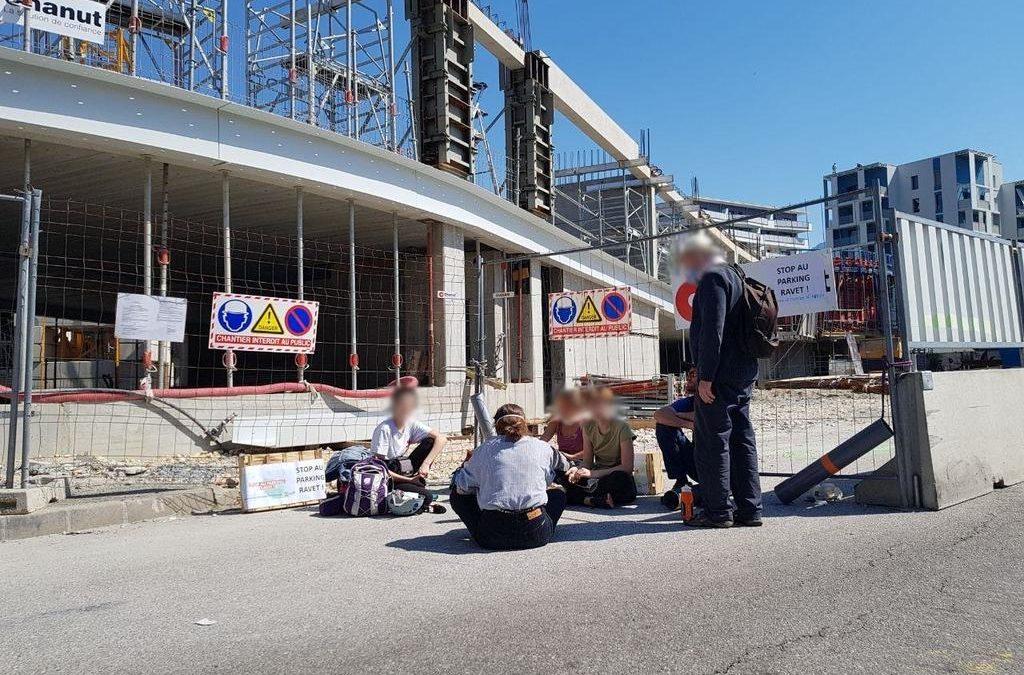 Blocage d'un chantier à Chambéry